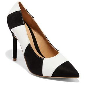 Eva Mendes Colorblock Pump Heels Shoes